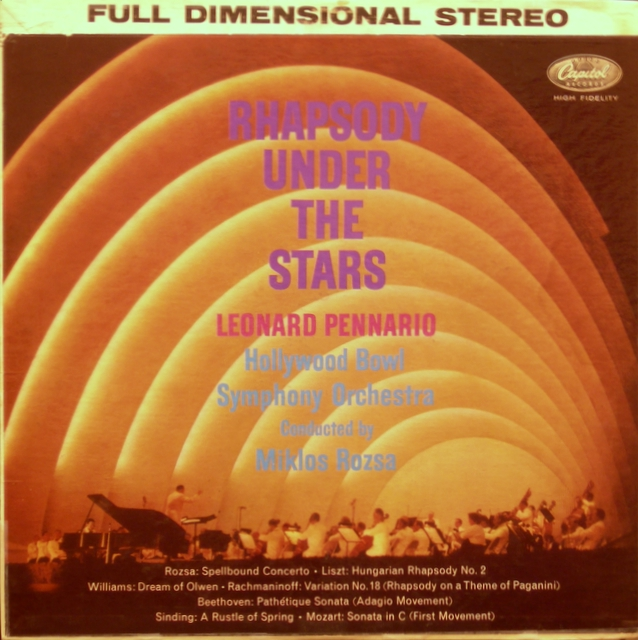 Leonard Pennario - Rhapsody Under The Stars LP